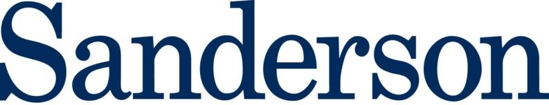 Sanderson Logo Word Blue