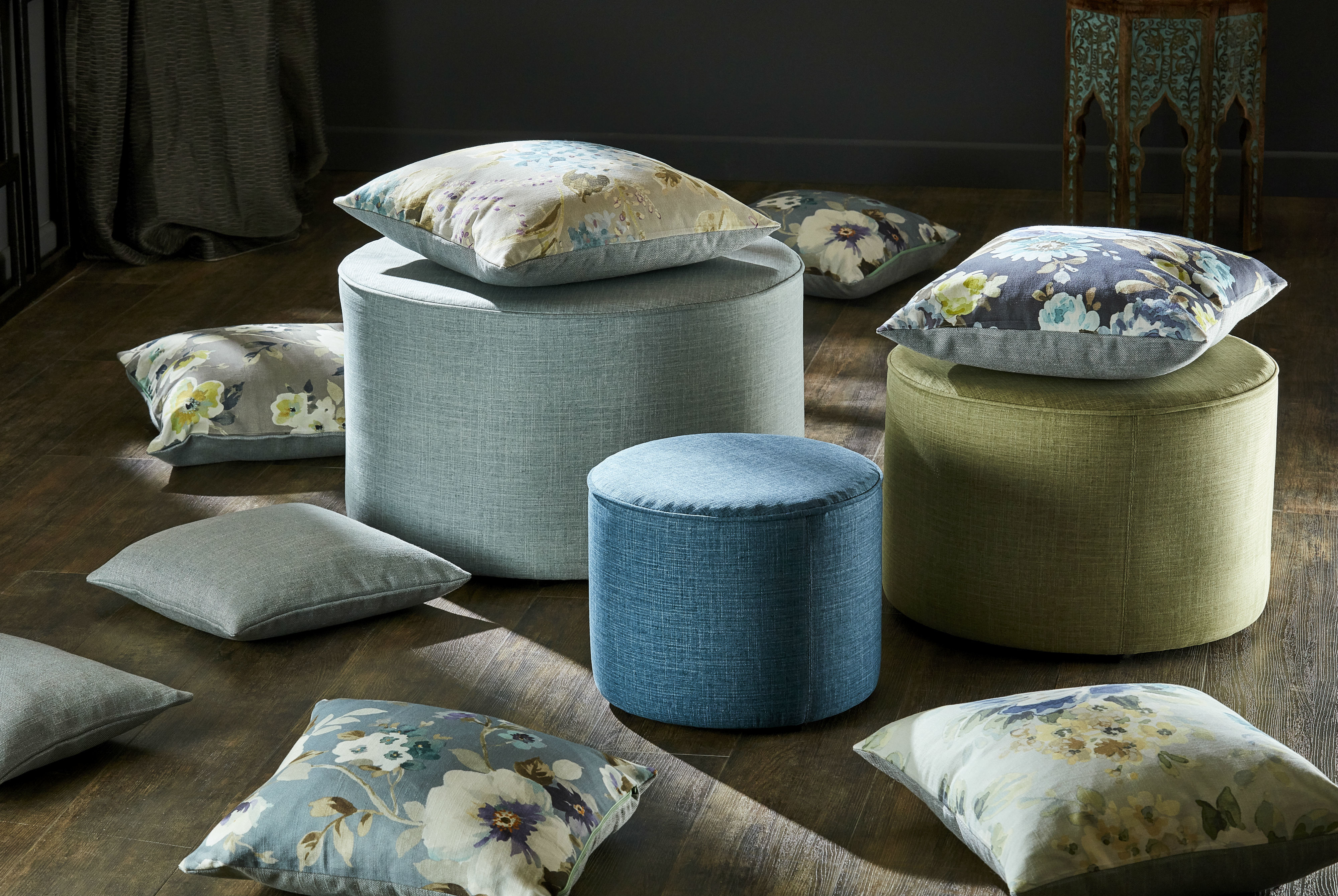 Matryoshka Stools With Cushions Full Image