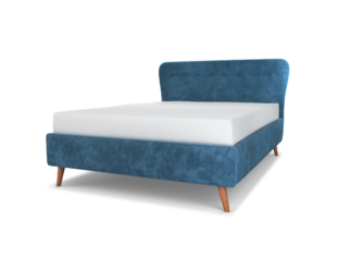 Cocktail Upholstered Bed & Headboard