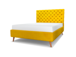 Chesterfield Upholstered Bed & Headboard