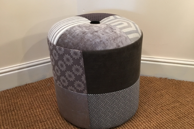 Circular Stool Grey